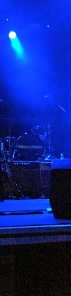 The stage: blue light