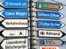 sign post with 12 options