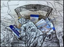 'Car Stuff' by Bernie Slater, 2013. Lithograph.