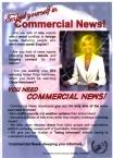 'Commercial News' leaflet by Bernie Slater, 2005.
