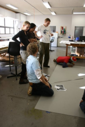 Artists in a workshop