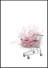 'Trolley' by Bernie Slater, 2012. Screenprint and ballpoint pen.