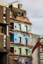 Old Magistrates Court Bristol demolition by Liz Eve, Liz Eve