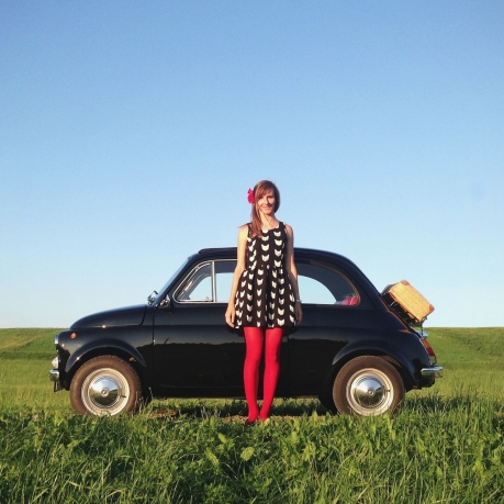 Martina and her Fiat