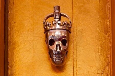 brass door-knocker